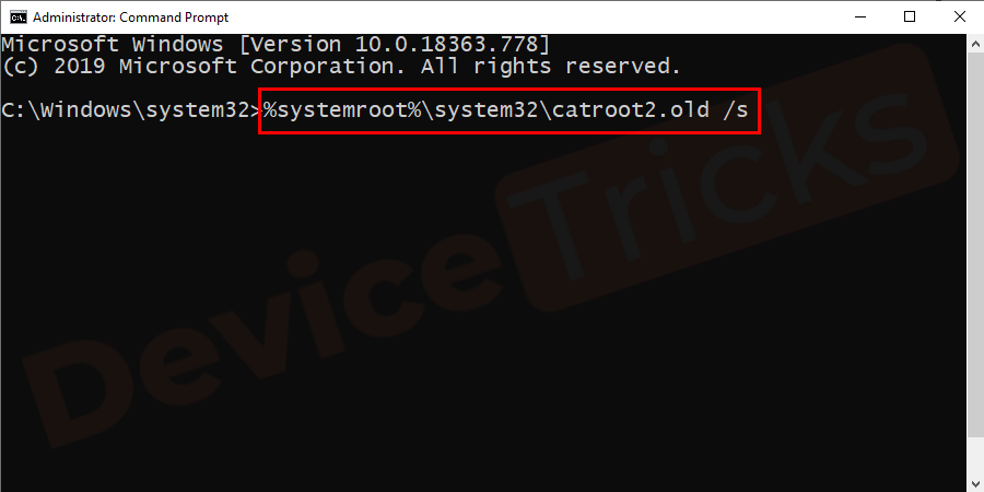 %systemroot%\system32\catroot2.old /s
