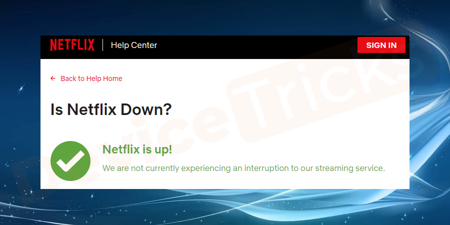 Check if the Netflix server is down or working
