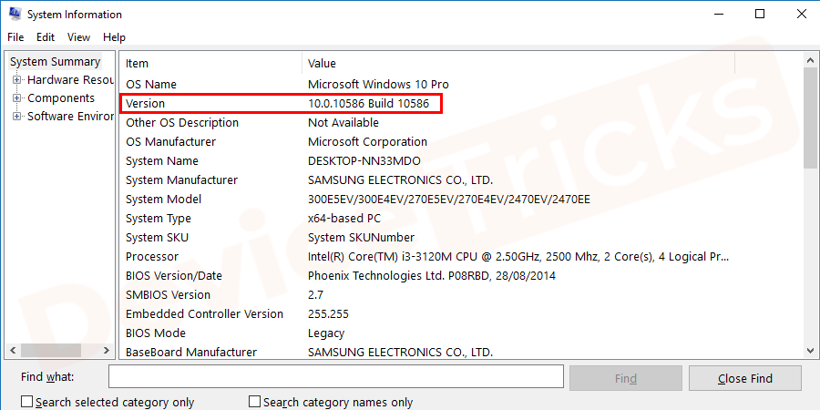In the next window, check your current BIOS Version/Date and go to its official website.