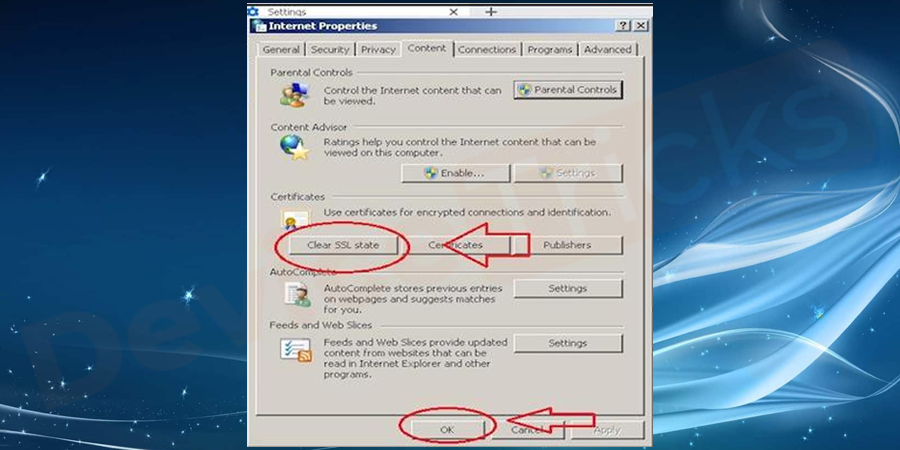 Under the system category, navigate to open proxy settings