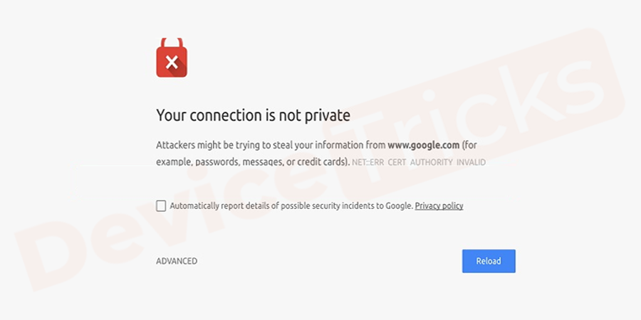 """""""Your Connection is Not Private"""""""
