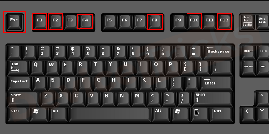 Now turn ON your computer and on the screen, you will get access to enter the BIOS by pressing the relevant key. The keys are different for different models and amid doing the task, the key will flash on the screen, so press it to enter the Setup zone. Generally, the keys are Del, F1, F2, F10 and more.