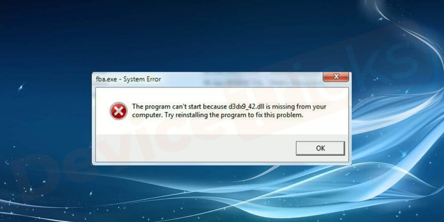 What is d3dx9_42.dll missing error?