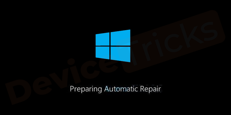 Now, turn ON the PC and then the display will show 'Preparing Automatic Repair'.