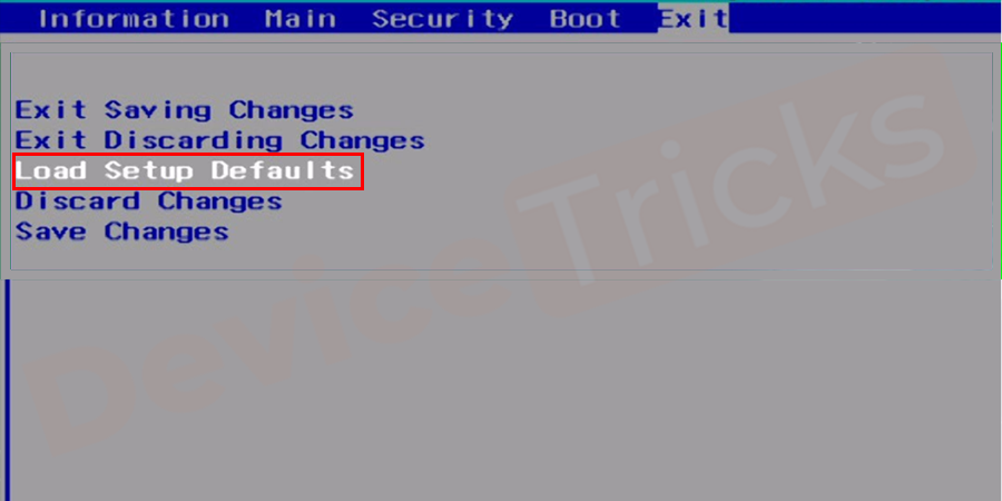 Reset your system's BIOS settings