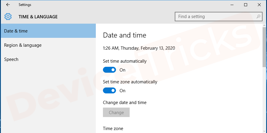 Change date and time according to the present.After successful completion, click on the ok button