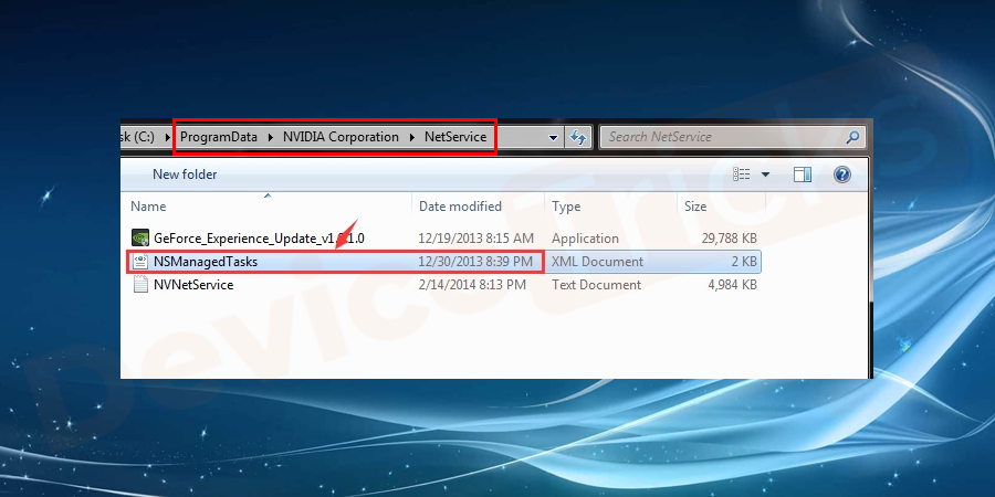 Inside the folder, you will get the 'NSManagedTasks.xml file, select the one and then delete the file.