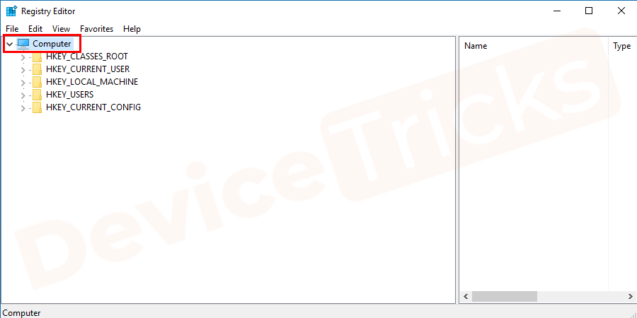 In the registry editor page, you will get My computer icon and clicking on the arrow key will give you additional options.