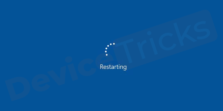 Restart your computer and check for the error.