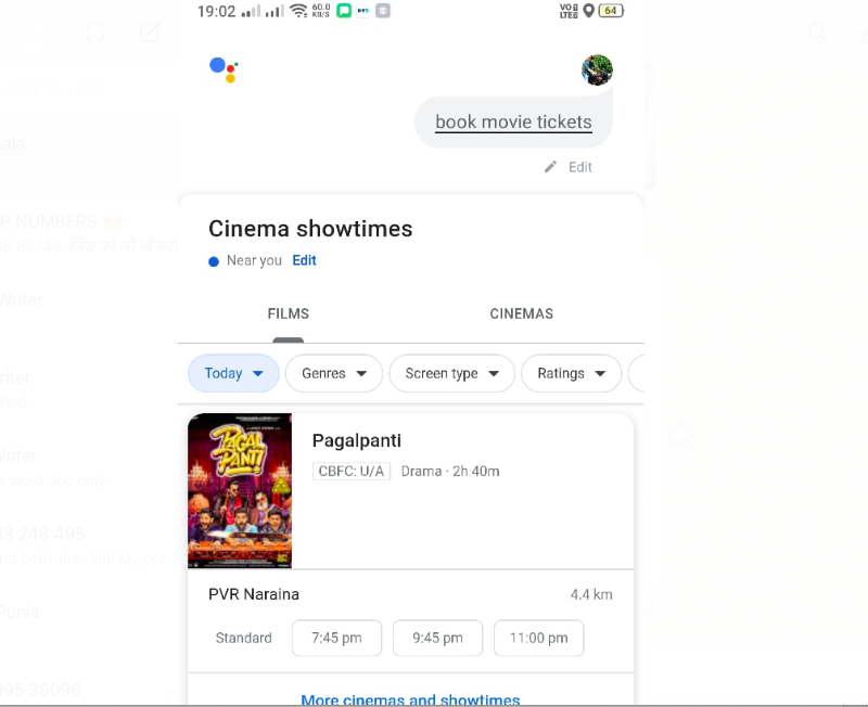 New Google Assistant movies features buys your tickets