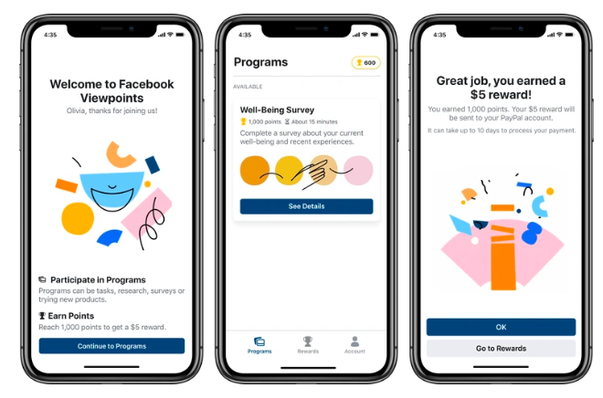 Facebook Viewpoints App Surveys will Pay You For Active Participation