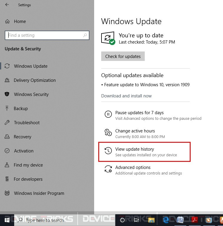 Uninstall Windows Update to Fix Cortana Not Working in Windows 10