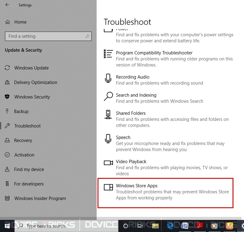 Run Windows Troubleshooter to fix Cortana not responding Issue