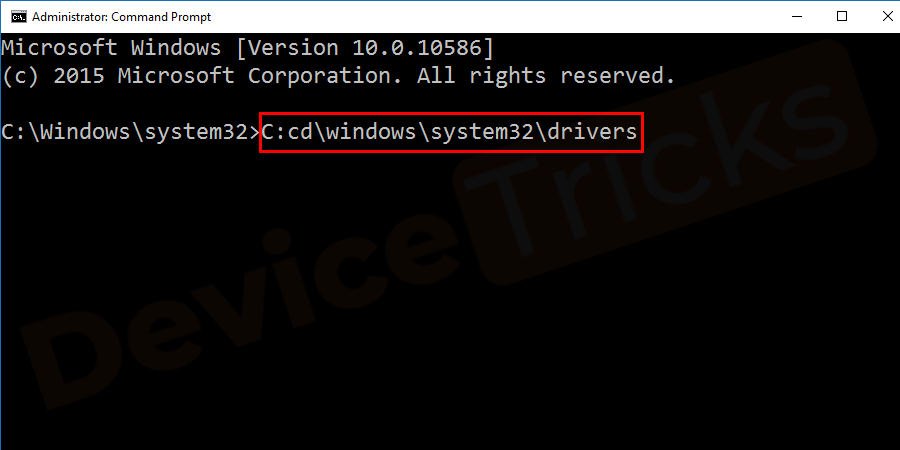 C:cd\windows\system32\drivers