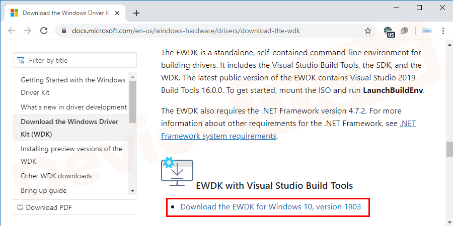 After reaching the page, select the package as per the version of your Windows OS, download the file and then install the same.