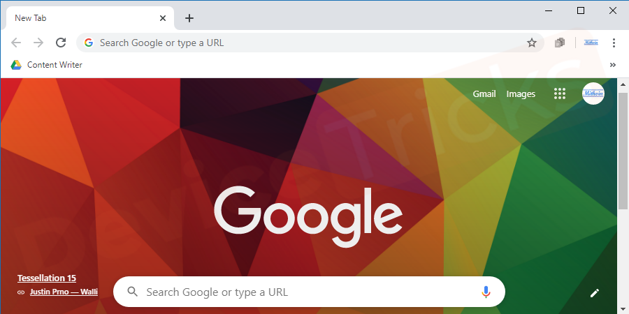 Launch Google Chrome, and click the Customize and control button.