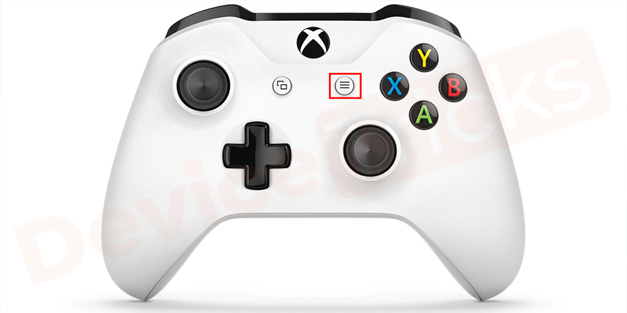 After selecting the Netflix, press the Menu button located in the Xbox One controller, just beneath the Home button.