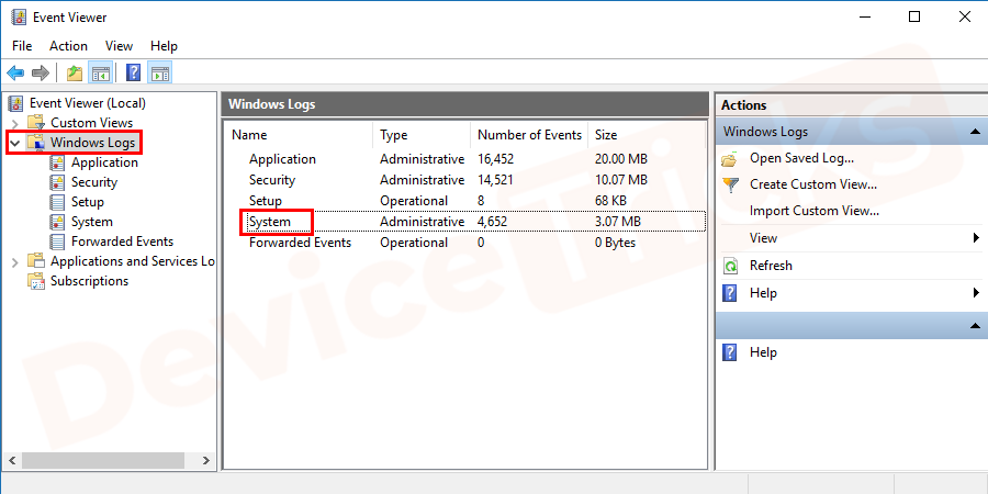 After that, you will get additional options listed in Windows Logo, double-click on System.