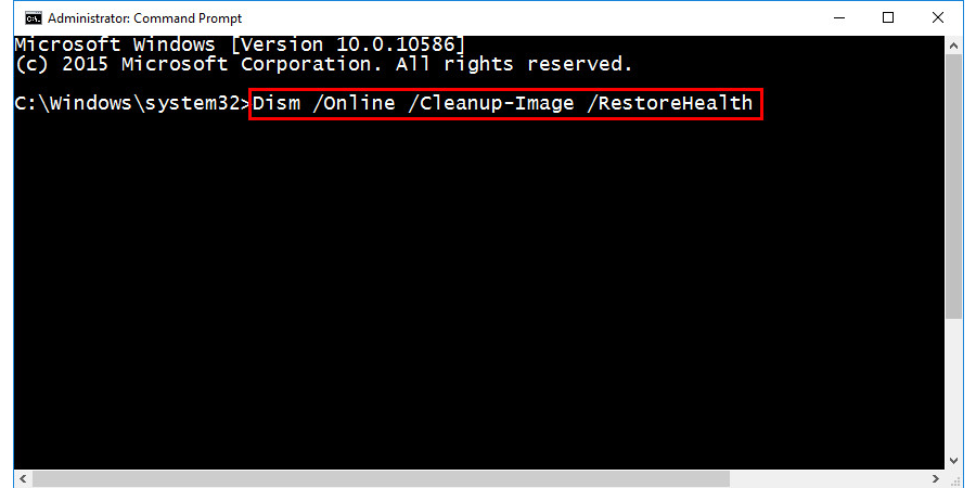 Scan and Fix Corrupted System Files in Windows 10 to fix WMI Provider High CPU Usage Error