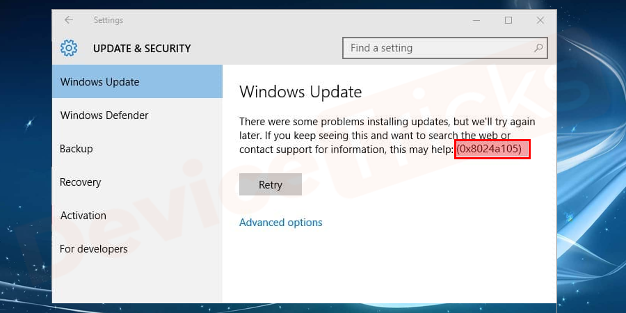 How to Fix 0x8024a105 Windows Update Error?
