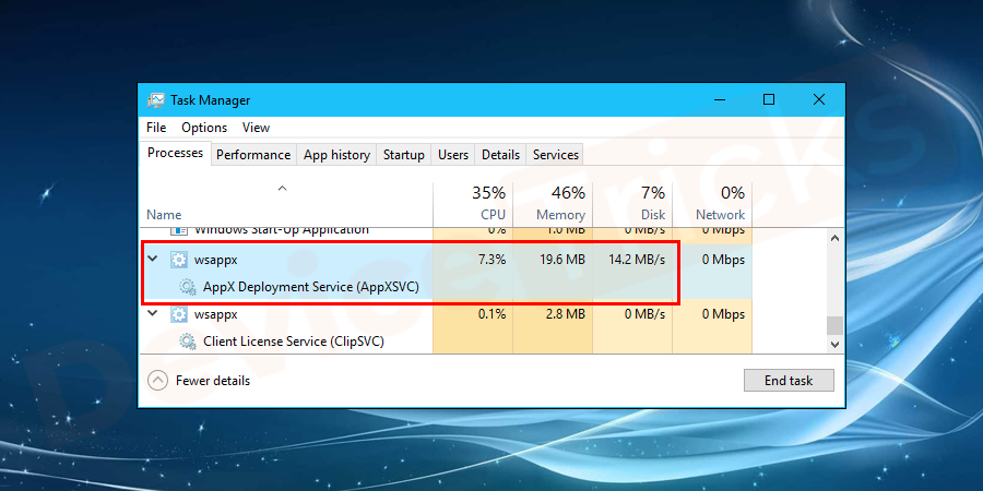 What is WSAPPX and how to fix High CPU and Disk Usage Issue?