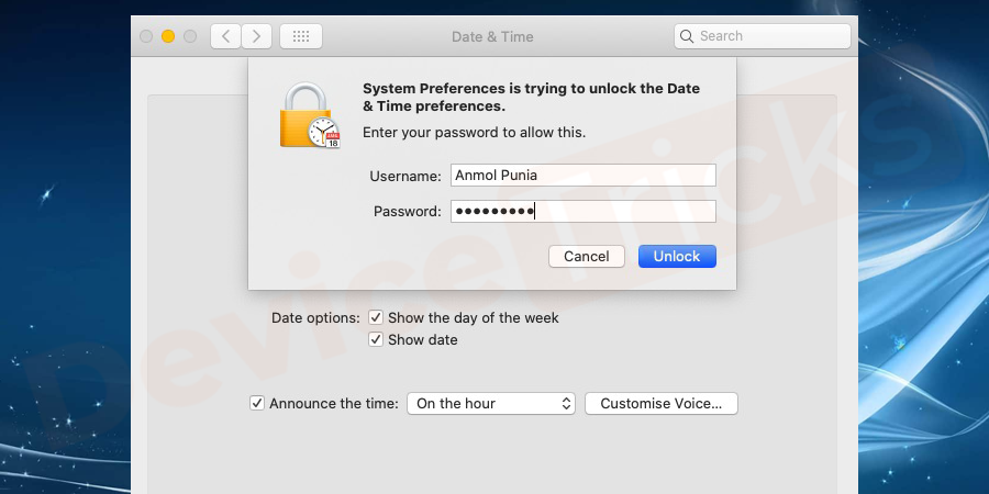 If the padlock appears at the bottom of the window, click on it. Enter your administrator username and password