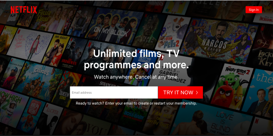 Netflix--Sites to Watch TV Shows Online For Free[Full Episodes]