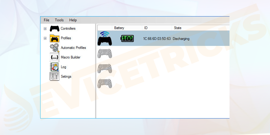 First, move to the DS4 Windows file directory.