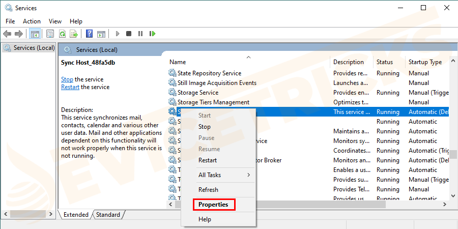 Then locate the Superfetch service > right-click on it > choose Properties.