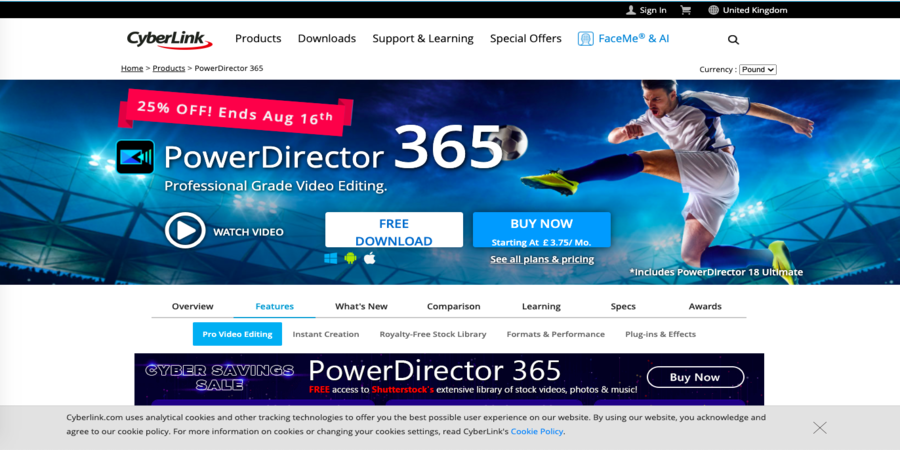 360-degree motion tracking best Video editing Software free